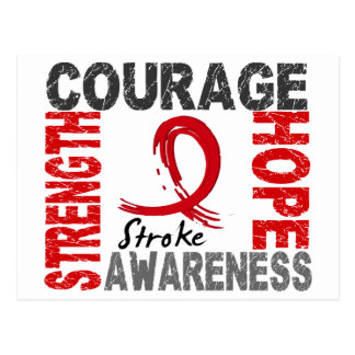Strength Courage Hope Stroke Postcard