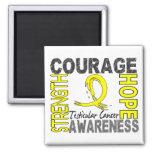 Strength Courage Hope Testicular Cancer Refrigerator Magnets