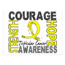 Strength Courage Hope Testicular Cancer Postcard