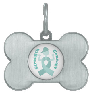 Strength Courage Pet Name Tags