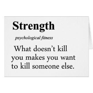Strength Definition Card