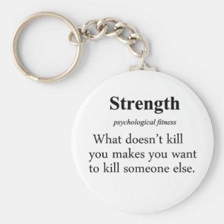 Strength Definition Keychain