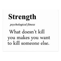 Strength Definition Postcard