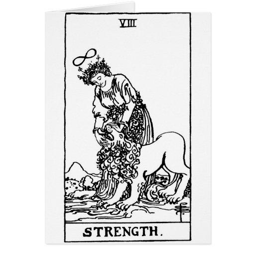 strength del tarot ' tarjeta de felicitación