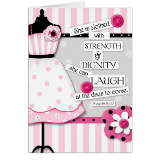 Strength Dignity Scripture Encouragement Card