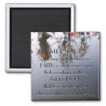 Strength, Faith and Hope 2 Inch Square Magnet
