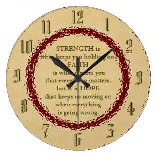Strength, Faith and Hope Wallclock