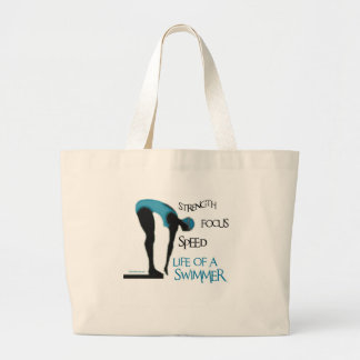 STRENGTH FOCUS SPEED LIFE OF A SWIMMER CANVAS BAGS