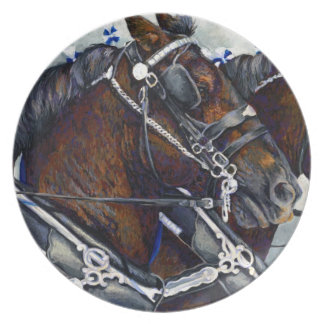 Strength & Glory - Percheron Horse Plate