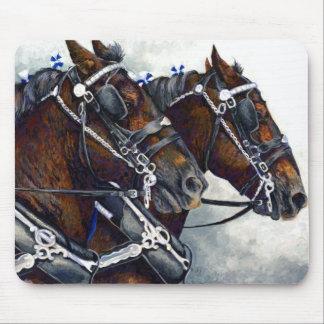 Strength & Glory Percheron Horse Team Mouse Pad