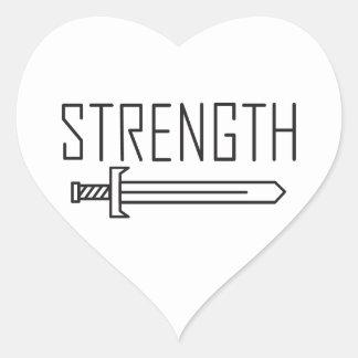 Strength Heart Sticker