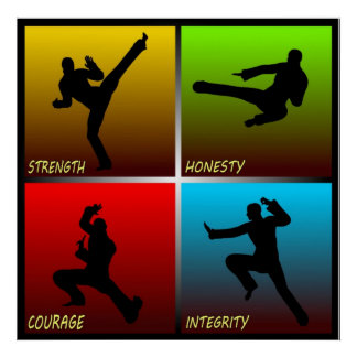 Strength Honesty Courage Integrity Poster