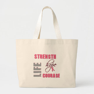 Strength, Hope - Breast Cancer Merchandise Tote Bag