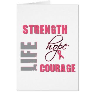 Strength, Hope - Breast Cancer Merchandise Greeting Card