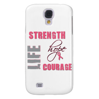 Strength, Hope - Breast Cancer Merchandise Galaxy S4 Cases