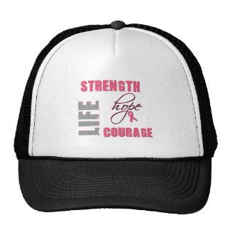 Strength, Hope - Breast Cancer Merchandise Mesh Hat