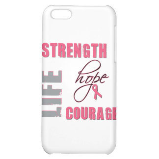 Strength, Hope - Breast Cancer Merchandise Cover For iPhone 5C