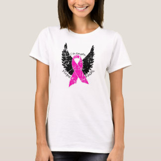 Strength, Hope, Faith Breast Cancer Ribbon T-Shirt
