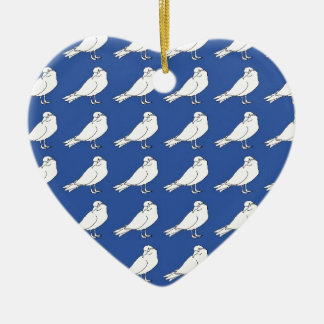Strength In Blue Numbers Ceramic Ornament
