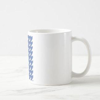 Strength In Blue Numbers Basic White Mug