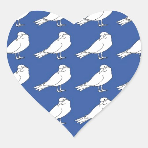 Strength In Blue Numbers Heart Sticker