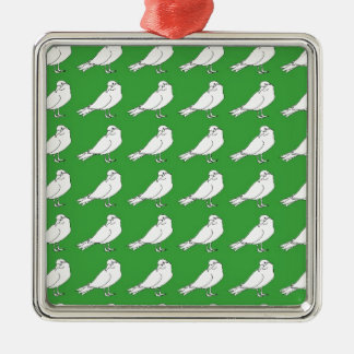 Strength In Green Numbers Metal Ornament