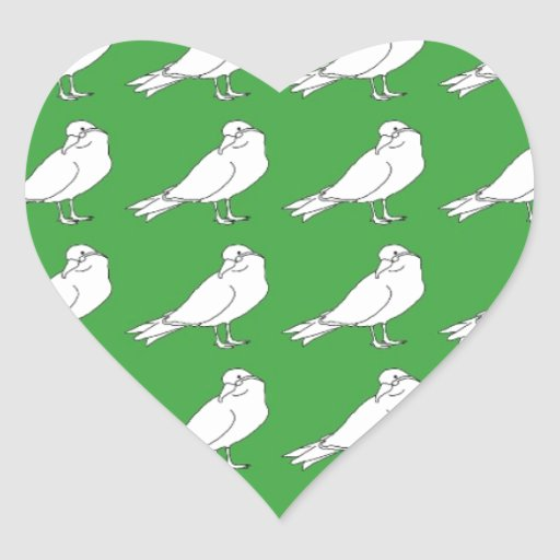 Strength In Green Numbers Heart Sticker