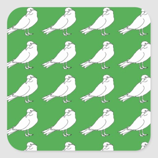 Strength In Green Numbers Square Stickers