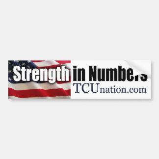 Strength in Numbers 1 Car Bumper Sticker