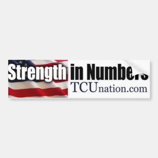 Strength in Numbers Car Bumper Sticker