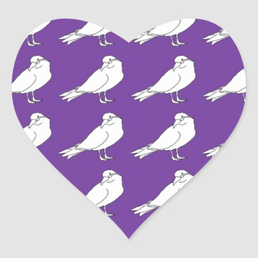 Strength In Purple Numbers Heart Stickers