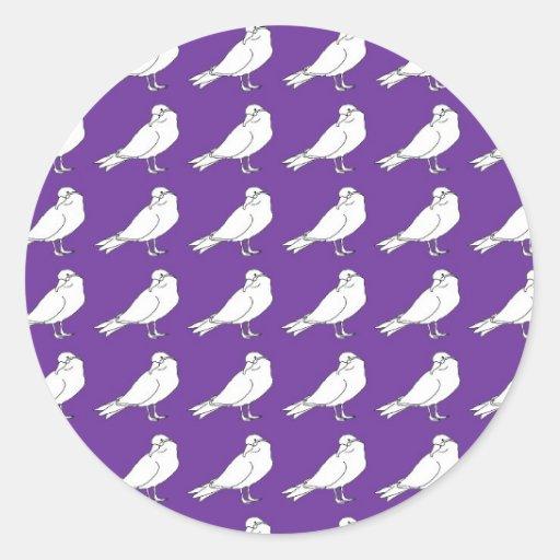 Strength In Purple Numbers Round Sticker