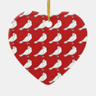 Strength In Red Numbers Ceramic Ornament