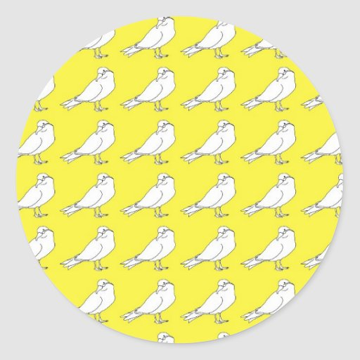 Strength In Yellow Numbers Round Sticker