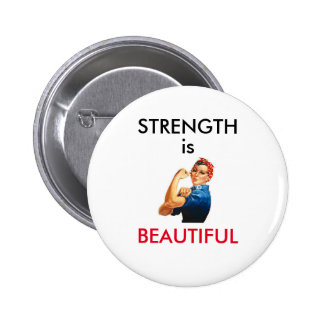 Strength is Beautiful Button