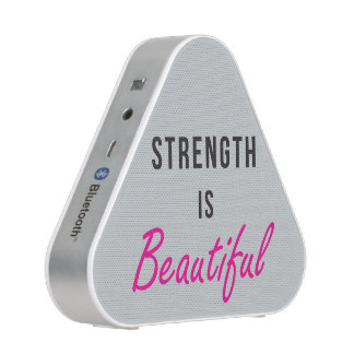 Strength Is Beautiful - Female Gym Motivation Bluetooth Speaker