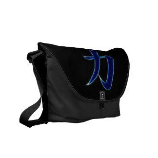 Strength Japanese Kanji Symbol Courier Bags