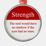 Strength leads to triumph christmas tree ornaments