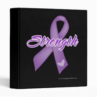 Strength - Leiomyosarcoma 3 Ring Binders