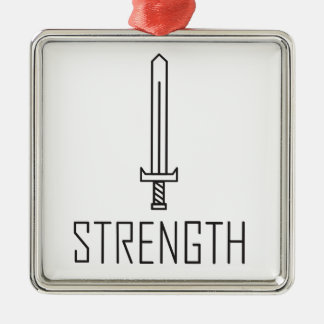 Strength Metal Ornament