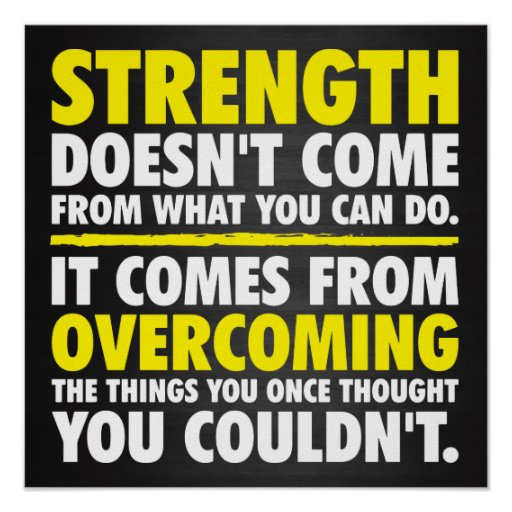 Strength - Motivational Poster