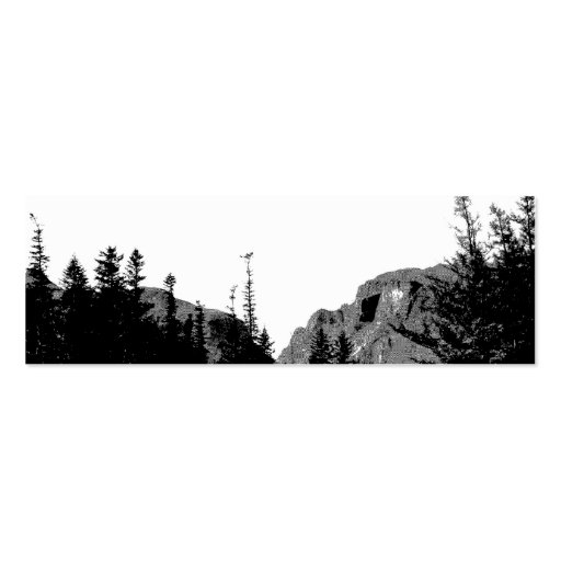 Strength/Mountain Scenery in B&W Bookmark Business Card Template