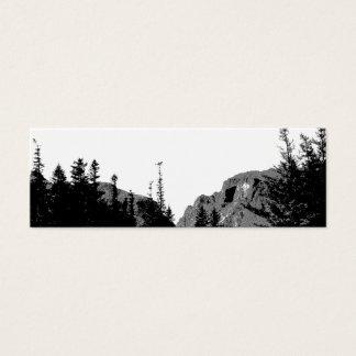 Strength/Mountain Scenery in B&W Bookmark Mini Business Card