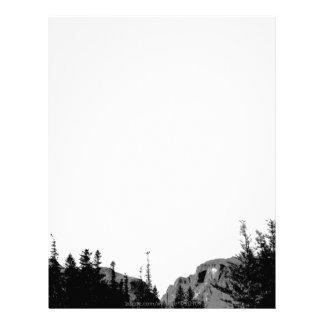 Strength/Mountain Scenery in B/W Customized Letterhead