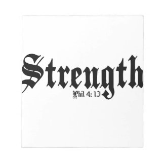 Strength Notepad