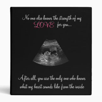 Strength Of A Mother's Love Sonogram Baby Book Binder