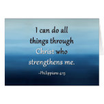 Strength Of Christ Encouragement Card at Zazzle