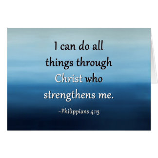 Strength of Christ Encouragement Card