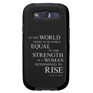 Strength Of Determined Woman Inspirational Quote B Samsung Galaxy SIII Case