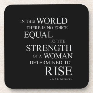 Strength Of Determined Woman Inspirational Quote B Coaster